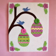Egg Tree Wall Hanging by NancysWorkshop on Etsy Easter Placemats, Easter 2015, Egg Tree, Easy Quilts, Felt Hearts, Mug Rugs, Applique Quilts, Tree Wall, Quilt Top