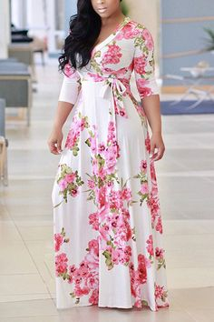 m.lovelywholesale.com wholesale-charming+v+neck+floral+print+white+milk+fiber+floor+length+dress-g161912.html