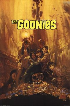 The Goonies posters for sale online. Buy The Goonies movie posters from Movie Poster Shop. We're your movie poster source for new releases and vintage movie posters. 80s Movies, Great Movies, Love Movie, Movie Tv, Movie Club, Movies Showing, Movies And Tv Shows, Groups Poster, About Time Movie