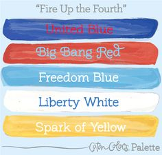 Decorate your festive Fourth of July celebration with this patriotic color…