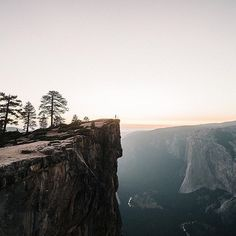 by folkmagazine: It was my last night in Yosemite, Taft Point was a location I've been dreaming of going too. As we got to the trailhead the evening light was slowly fading. We ran the trail and got there just in time for sunset. This was a moment I will never forget. -- @tannerseablom #liveauthentic #livefolk @folkmagazine