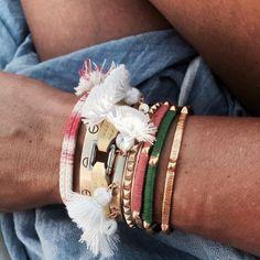 Marte Frisnes pom pom bracelets a style album