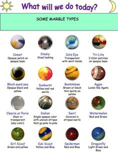 Marble Names Vintage Toys In 2018 Pinterest Marble