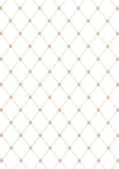 Baby Girl Nursery -WILTON TRELLIS, Pink and Green, T1846, Collection Geometric Resource from Thibaut