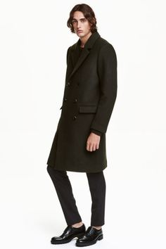 Double-breasted wool-mix coat   H&M