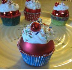 Esferas en forma de cupcake..