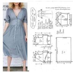 Skirt Patterns Sewing, Blouse Patterns, Clothing Patterns, Sewing Clothes, Diy Clothes, Column Dress, Western Outfits, Pattern Fashion, I Dress