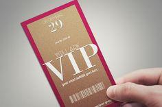 MINIMAL VIP PASS card by Tzochko on Creative Market