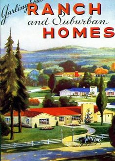 1950s Atomic Ranch House | as with prairie box homes the stress in designing ranch style homes ...