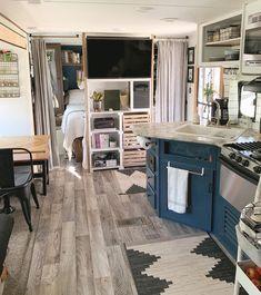 Remodeling For Better Value – Living Rooms – House Remodel HQ Tyni House, Tiny House Living, Rv Living, Home Living Room, Rv Homes, Tiny Homes, Travel Trailer Remodel, Van Home, Remodeled Campers