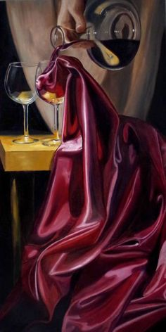 Still life paintings by artist Lorn Curry Realistic Oil Painting, Painting & Drawing, Painting Inspiration, Art Inspo, Fabric Photography, Still Life Art, Surreal Art, Fabric Painting, Creative Art