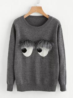 Negozio Maglione con abbellito di pelliccia ecologica on-line. SheIn offre Maglione con abbellito di pelliccia ecologica & di più per soddisfare le vostre esigenze di moda.