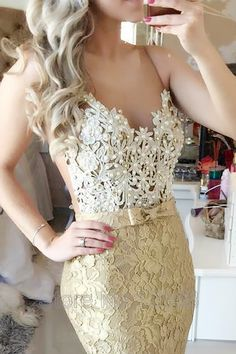 Illusion Mermaid Sweep Train Champagne Prom/Evening Dress With Bow