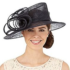 4889d482 Hatbox - Navy flower swirl hat Occasion Hats, Occasion Wear, Mother Of The  Bride
