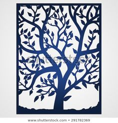 Abstract frame with tree. May be used for lasercutting. Laser cut tree silhouette in frame. Wedding invitation template - buy this vector on Shutterstock & find other images. Metal Tree Wall Art, Metal Art, Silhouettes, Jewelry Tree Stand, Plasma Cutter Art, Paper Cutting Templates, Laser Cutter Projects, Lazer Cut, Tree Silhouette