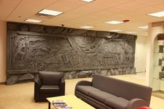 I want this for my future house for my D room! :D Skyrim's Giant Dragon Wall, Installed on a Regular Office Wall