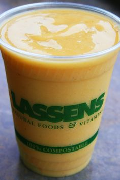 Zen Peach smoothie at Lassens  lassensloves.com