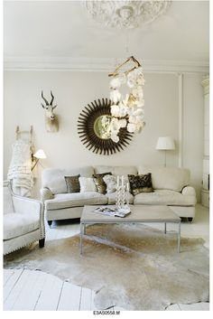 The Decorista-Domestic Bliss: Home Tour: glamorous vintage style is the perfect winter decor