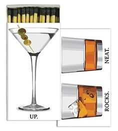 Matches - Cocktail HomArt offers scores of decorative matches to inexpensively enhance any home décor. These designer match boxes are reusable, and each comes w Stove Accessories, Fireplace Accessories, Martini, Fire Starters, Match Making, Milkshake, Hostess Gifts, Little Gifts, Bartender