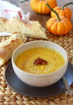 Sweet and Smoky Roasted Pumpkin Soup