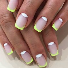 Nail Shapes New Trends and Designs of Different Nail Shapes - Nails 💅 Neon Nail Art, Neon Nails, Matte Nails, Love Nails, My Nails, Stiletto Nails, Acrylic Nails, Nail Deco, Different Nail Shapes