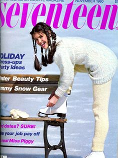 Do you want to really bring back the '80s? Try this multi-braid hairdo, as seen on Phoebe Cates (yet again) on this holiday issue.