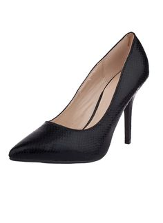 Shop Prima Donna - Vision Pointy Pumps Black Snakeskin