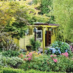 19 favorite garden cottages and sheds   Recycled retreat   Sunset.com
