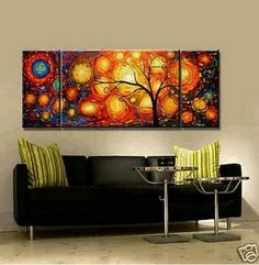 3 piece canvas art easy colorful tree piece canvas art 100 hand painted group painting abstract oil 141 best images frames canvases paint