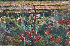 Claude Monet 《Peony Garden》 1887 oil on canvas 65.3 x 100cm The National Museum of Western Art Matsukata Collection