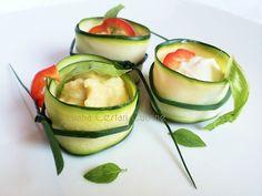 Involtini di zucchini con ripieno di salse ai legumi | Luana Cestari | Cucina naturale d'autore