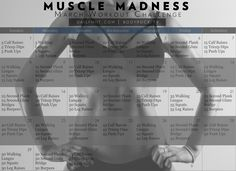 Muscle Madness March Workout Challenge (FREE CALENDAR)