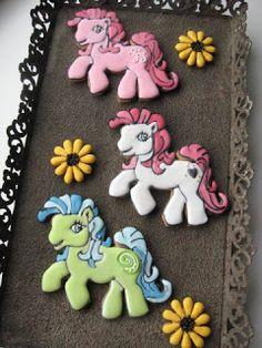 Galen i cupcakes: My little pony-dekorerade kakor