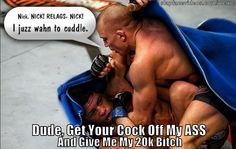 Nick Diaz Getting Dry Humped By GSP Meme.
