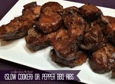 Pepper BBQ Ribs are Country Style Pork Ribs, Slow cooked in Dr. Pepper, then baked to caramelize the Dr. Pork Loin Ribs, Boneless Pork Ribs, Bbq Ribs, Crock Pot Slow Cooker, Crock Pot Cooking, Slow Cooker Recipes, Cooking Recipes, Crockpot Recipes, Crockpot Dishes