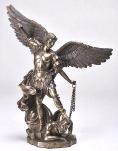 "SALE! 10"" Saint Michael Statue St. Catholic Archangel Gift Protector Police Gift"