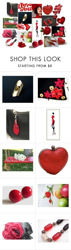 """""""Love is Everywhere"""" by anna-recycle ❤ liked on Polyvore featuring Whiting & Davis, modern, rustic and vintage"""