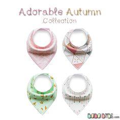 Bandana Bibs - Adorable Autumn Collection baby dribble bibs by BabaBibs