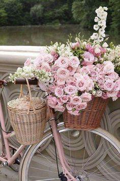 35 super ideas for bike basket flowers romantic