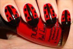 ladybug nail art - Google Search