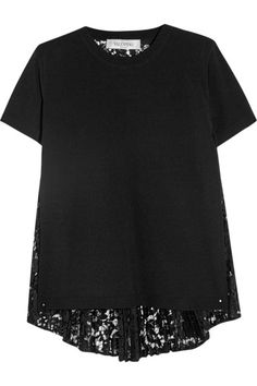 Black stretch-knit and lace Slips on  Fabric1: 83% viscose, 17% polyester; fabric2: 71% cotton, 21% viscose, 8% polyamide Dry clean  Made in Italy