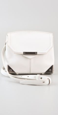 currently loving sling over white / metallic purses : favourite Alexander Wang #bag #fashion