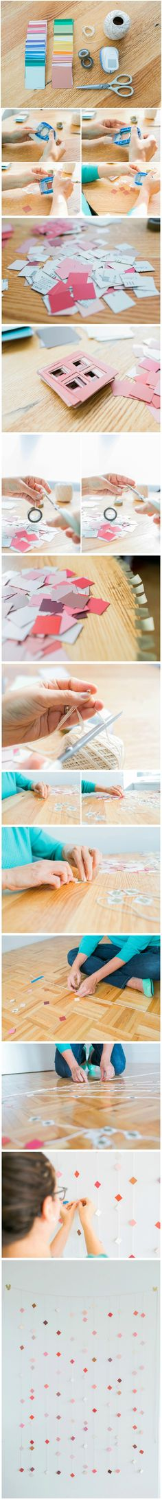 DIY Tutorial: Make a Geometric Paper Backdrop - perfect affordable wedding or event decor