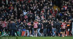 Sheffield United fans invade the pitch after their side's remarkable turnaround as Chris Porter scores against Forest to make it 3-1