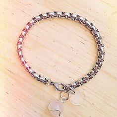 #stones #quartz #cuarzo #piedras #natural #bracelet #jewerly #it #moda #fashion #pulsera #pink #cream