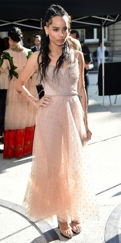 Your Cheat Sheet to Fall 2016 Couture Fashion Week - Zoe Kravitz Dressed Up As a Ballerina from InStyle.com