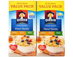 Heart healthy and naturally flavored instant oatmeal with whole grain oats.•…