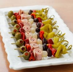 Appetizers on a stick! Perfect for any get-together!