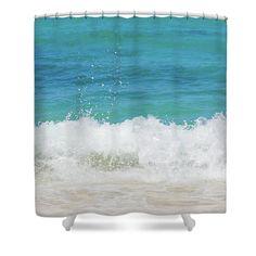 Sea Wave By Elena Chukhlebova Shower Curtain featuring the photograph Sea Wave by Elena Chukhlebova #showercurtain #ocean #coastal #bathdecor #elenachukhlebova