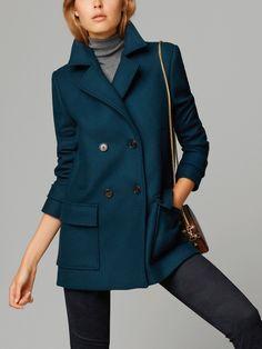 I want sooooooo bad!!!! ... Massimo Dutti Double-Breasted Coat